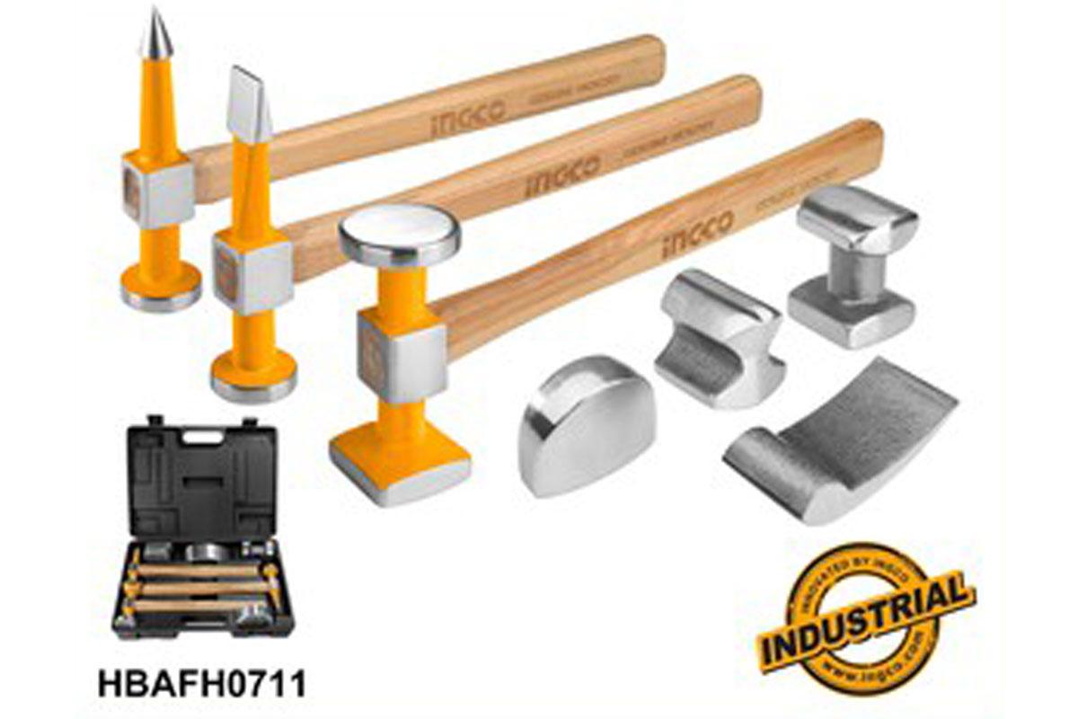 Bộ 7 món đe và búa làm đồng INGCO HBAFH0711