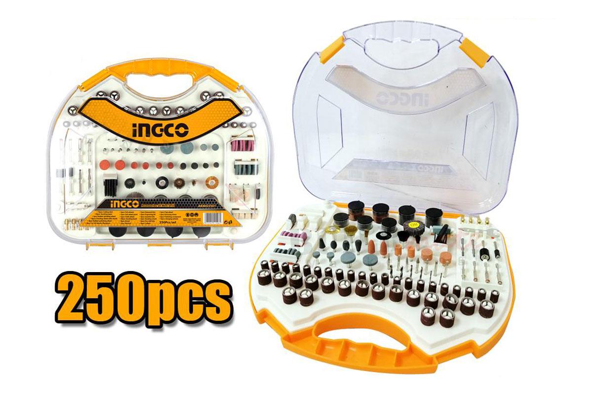 Bộ 250 linh kiện khoan mini INGCO AKMG2501
