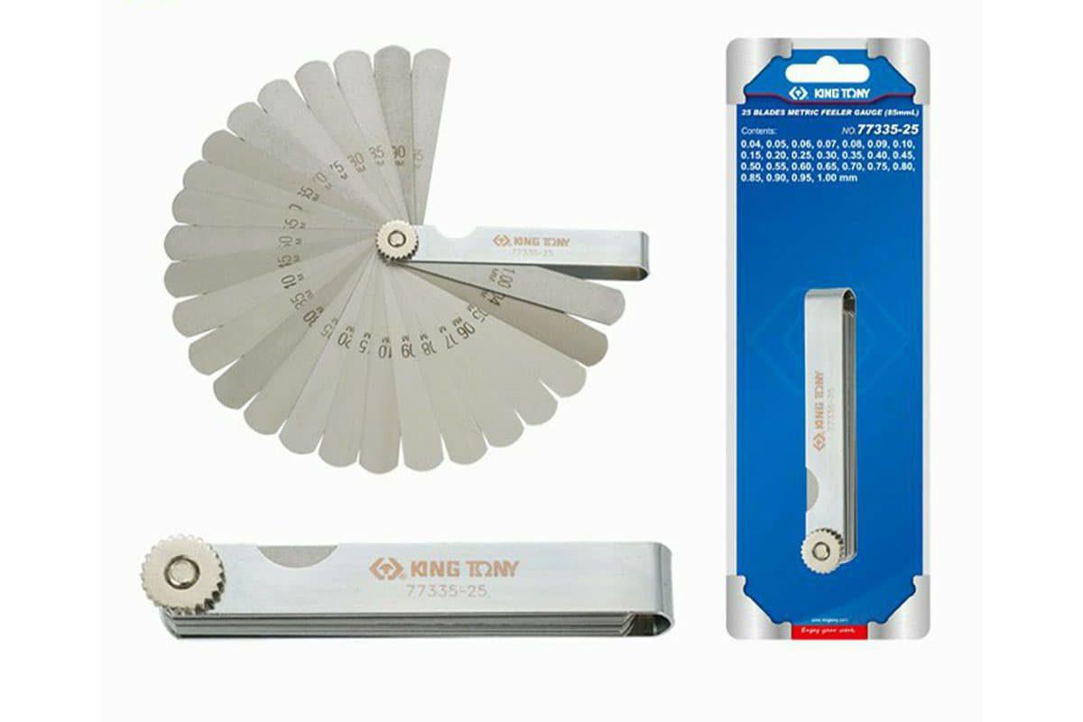 Bộ dưỡng đo độ dày 0.04-1mm 25 lá Kingtony 77335-25