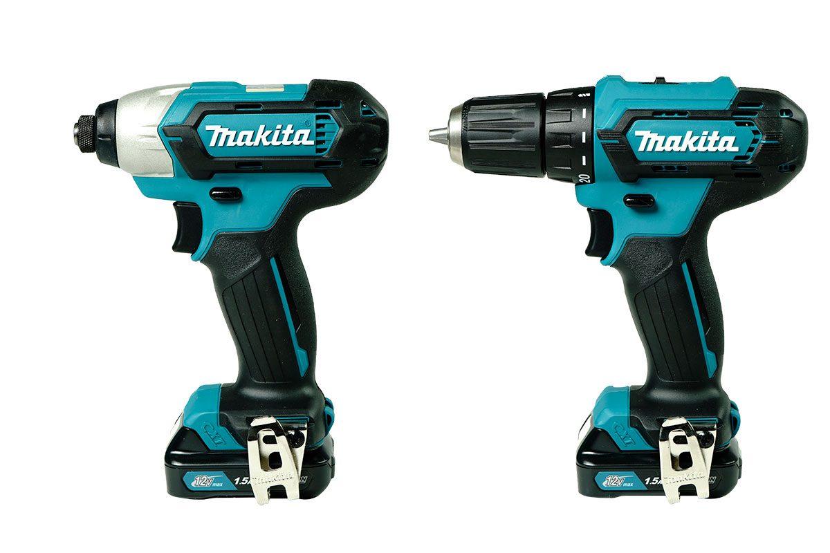Bộ sản phẩm máy khoan vặn vít Pin 12V Makita CLX224S