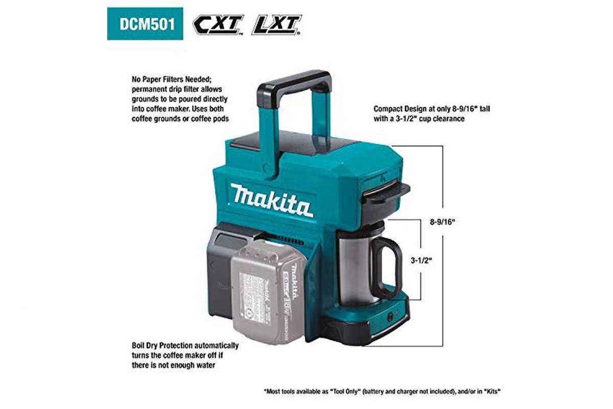 Máy pha cà phê pin 18V Makita DCM501Z