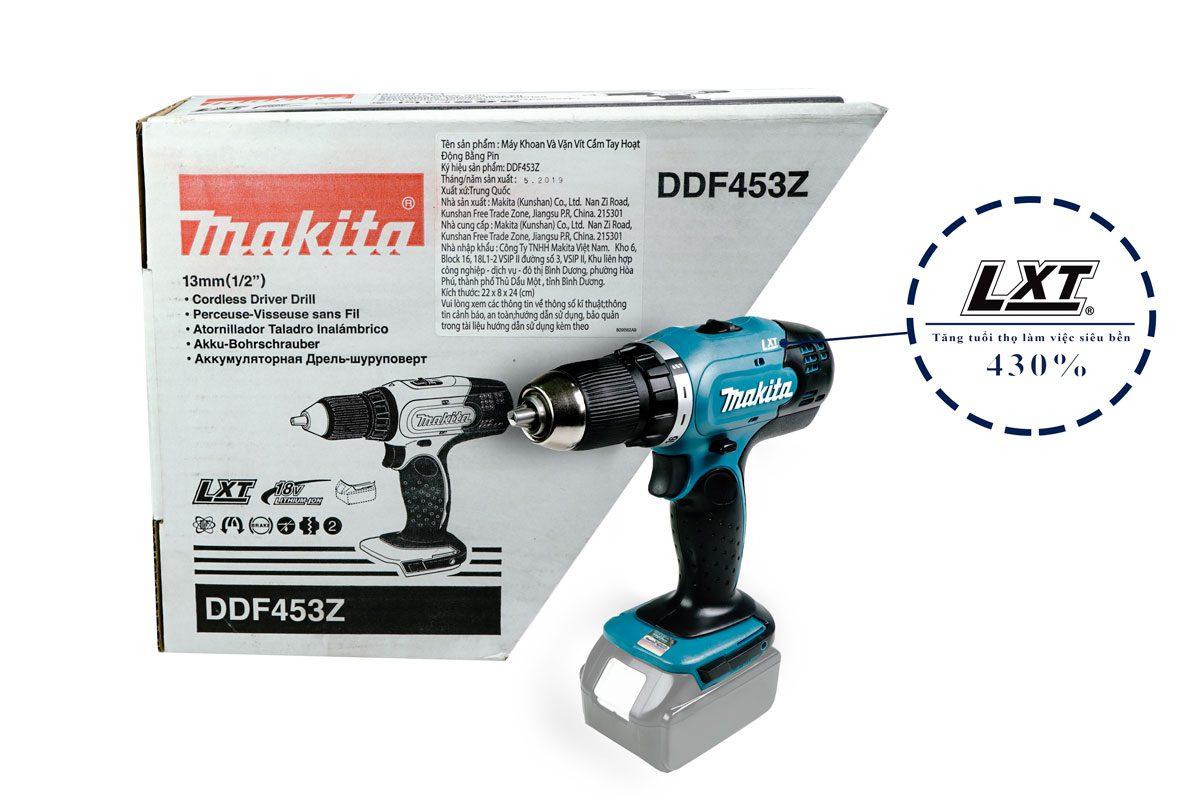 Thân máy khoan vặn vít pin 18V Makita DDF453Z