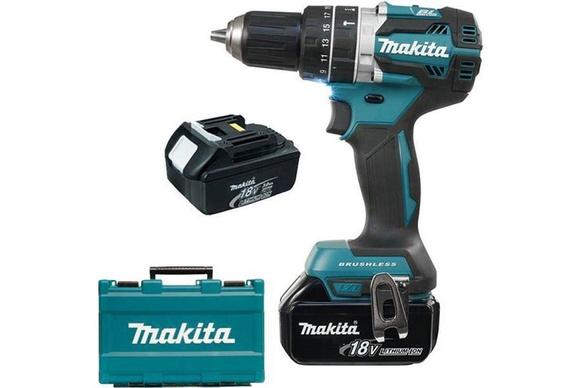 Máy khoan búa vặn vít pin 18V Makita DHP484RFE