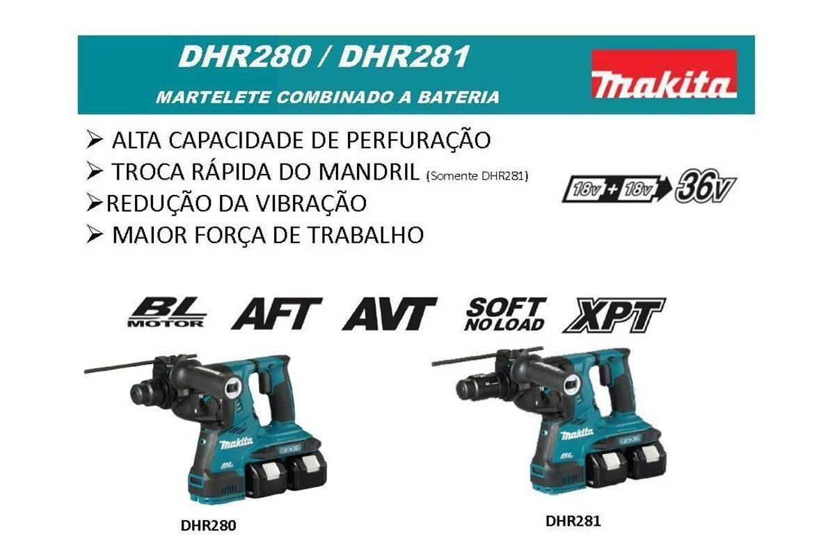 Thân máy khoan bê tông 28mm pin 18V Makita DHR280Z