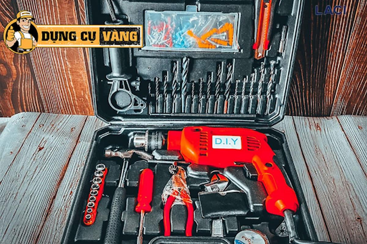 Bộ dụng cụ máy khoan cơ bản chính hãng